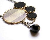 Statement Necklace in Silver and Gold - Christmas Collection 2011