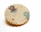 Cute Brooch with the Three Little Piggies