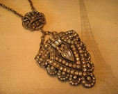 Vintage Rhinestone Pendant Necklace