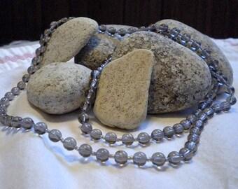 Smokey Glass Beaded Necklace