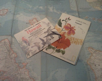 Hawaii Maps Set of 3  from National Geographic: 1960, 1976, 1983