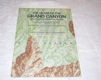 Heart Of The Grand Canyon Map 1978 topography map