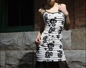 Black and White ruffle Summer Dress-Made to Measure