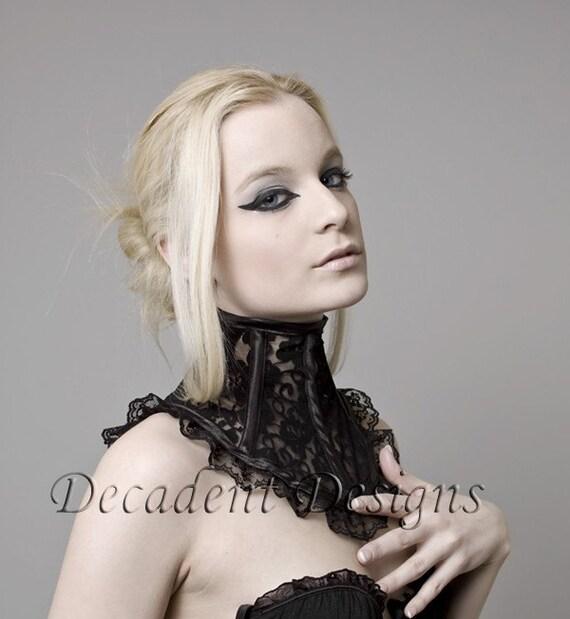Black Lace Neck Corset