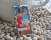 Smile Dear - soldered Glass pendant
