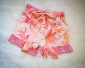 Pink Floral Fancy Pants Pantaloons Sz. S/M