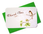 Thank You - Little Bird Victorian CORRESPONDENCE CARD