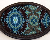 The Liza Buckle -   Rich Brown, Turquoise and Lime Buckle
