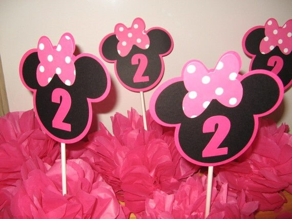 Minnie mouse table decoration 4 in this listing for Baby minnie mouse party decoration