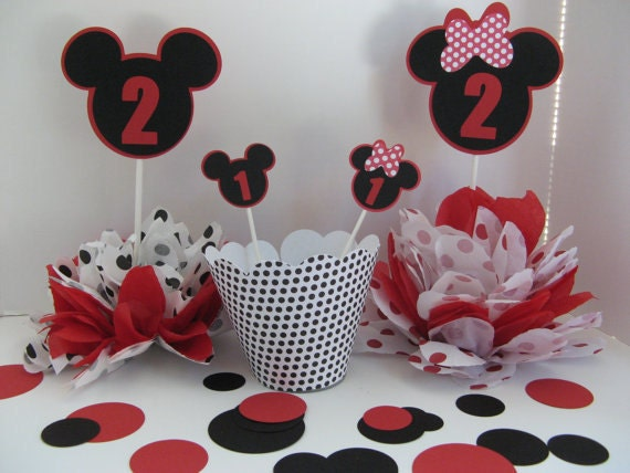 MIckey and MInnie cupcake toppers 1 dozen in this listing