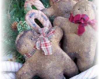 Canes, Gingerbread, Primitive, Folk Art, DOLL, Shelf Tucks, Ornaments, Gifts for Santa, E PATTERN