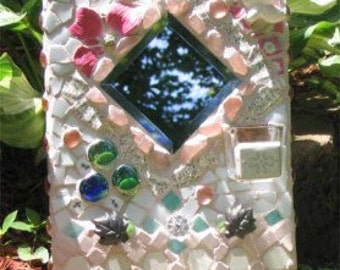 Decorative Mosaic Mirror with Pegs