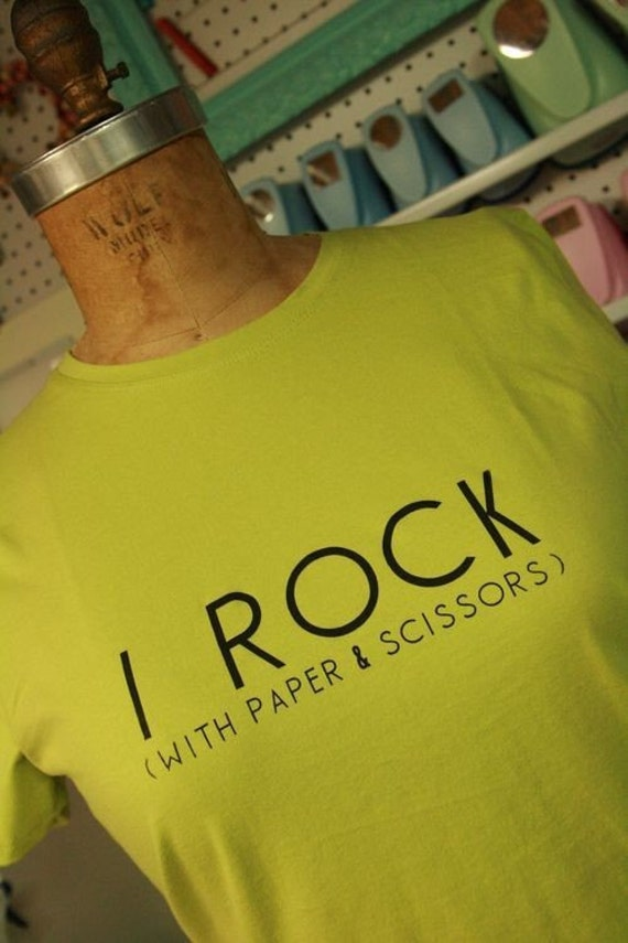 I Rock (With Paper and Scissors) T-Shirt