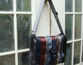 RESERVED   ON SALE  Eco friendly bag made from repurposed seat belts