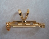 Gold Plated Brass Pendant and Brooch Combo Finding SET089