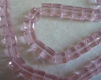 8mm Cube Pink Celestial Crystal Beads 10 pcs.  BDBC053