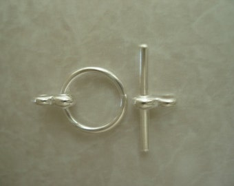 5 pairs 15X12mm Silver Plated Toggle Clasps LCC010