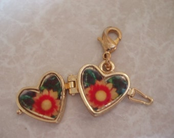 Gold Plated Heart Locket SET028