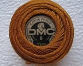 DMC 782 Dark Topaz  Perle Cotton Thread Size 8 for crochet, knitting, embroidery,  tatting, huck weaving