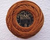 DMC Perle Cotton Thread Size 8 Brown 780