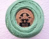 DMC 913 - Medium Nile Green - Perle Cotton Thread Size 8