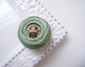 DMC Perle Cotton Thread Size 8 Light Pistachio Green 368