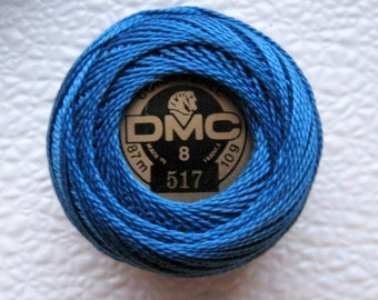 DMC Perle Cotton Thread Size 8  Dark Wedgewood Blue 517