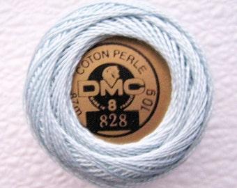 DMC 828 Ultra Very Light Blue Perle Cotton Thread Size 8