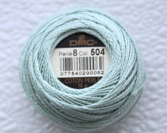 DMC 504 - Very Light Blue Green - Perle Cotton Thread Size 8
