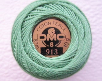 DMC 913 - Medium Nile Green - Perle Cotton Thread Size 8