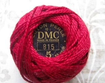 DMC 815 - Medium Garnet - Perle Cotton Thread Size 8