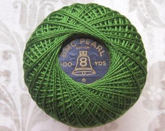 Size 8 -DMC 905 Dark Parrot Green Perle Cotton Thread Size  8