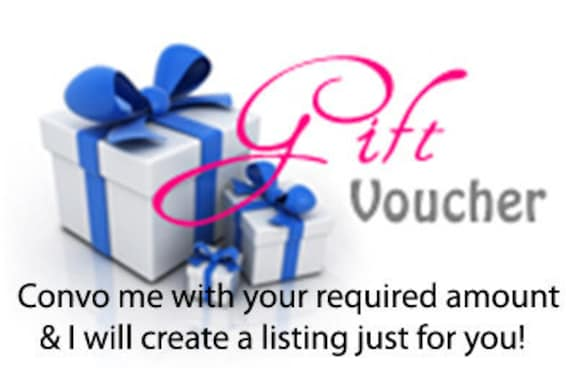 GIFT VOUCHER for TeriGlassBeads Etsy Store - convo to specify amount & get instructions...
