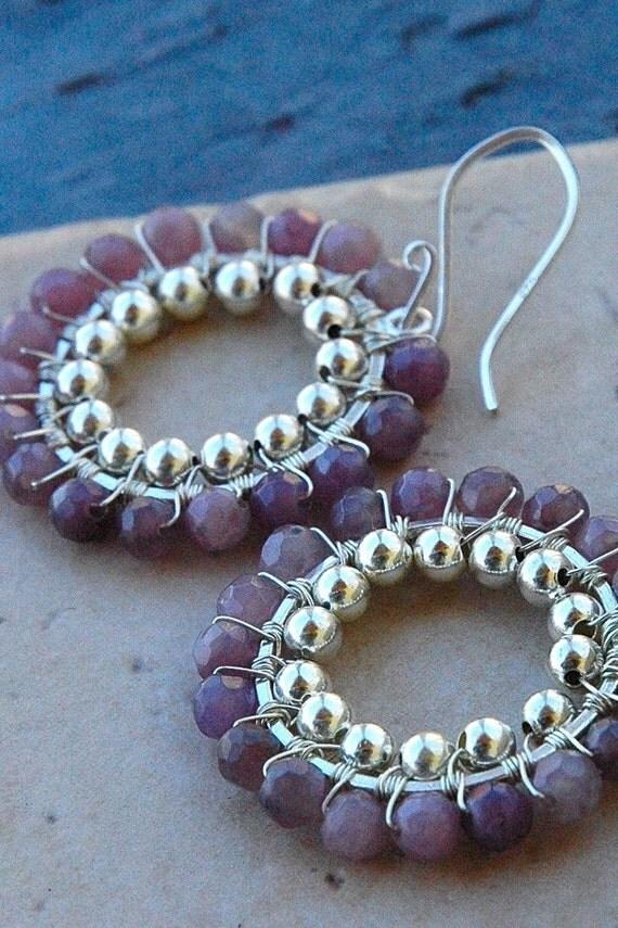 Heather Amethyst Earrings