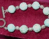 Carved Turquoise Bracelet