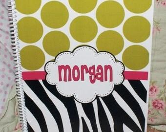 Zebra Polka Dot Lined Spiral Notebook