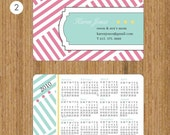100 Business Cards - Calendar cards - Personalized Calling Cards - pattern7