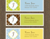 Personalized address label - mailing label - 99 labels - pattern3 - FREE SHIPPING