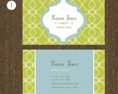300 Business cards - personalized Calling cards - 4 color options - pattern3