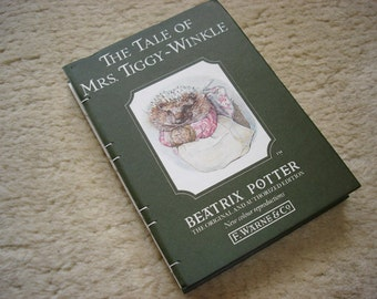 The Tale of Mrs. Tiggy-Winkle (an upcycled notebook)