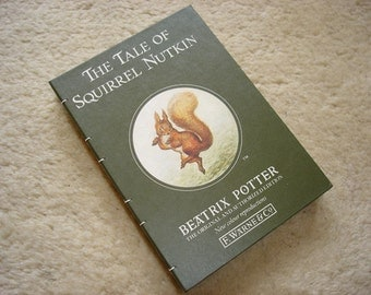 The Tale of Squirrel Nutkin (an upcycled notebook