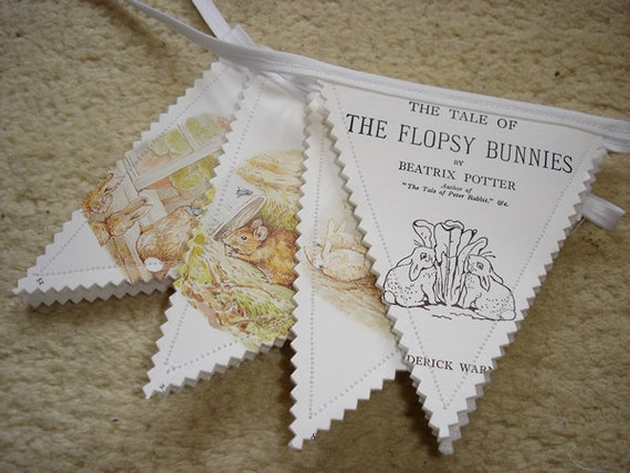 Beatrix Potter bunting - Tale of the Flopsy Bunnies