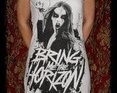 DIY KV Bring Me the Horizon Deathcore Metal Rock Halter Mini Dress M - Last One