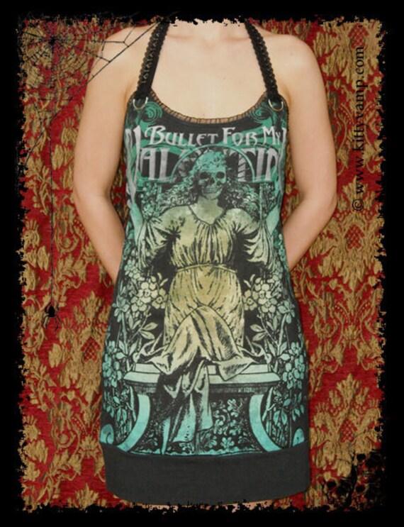 Bullet For My Valentine Metalcore Rock Skull Statue Deliver Us Evil Shirt Mini Dress S M L XL