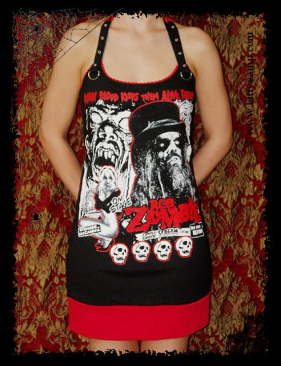 Rob Zombie Horror Industrial Rock Mini Dress S M L XL