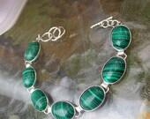 Designer malachite gemstone costume setting bracelet.... hugly get noticed