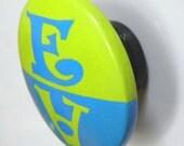 Hand Painted Wood Knobnet Knob Magnet Personalized Dishwasher Chore