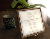 Wedding Invitation set in Stone.  6 inch Ceramic Trivet - The PERFECT Wedding Gift.