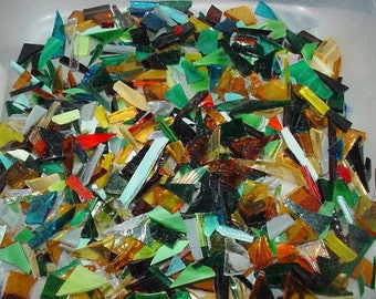 Stained glass scraps for mosaics and small suncatchers