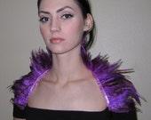 Bright Purple Feather COLLAR/Shrug/WRAP Stunning